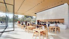 Apple abre el Visitors Center del Apple Park al público general - iPaderos Hotel Interiors, Office Interiors, Cafe Restaurant, Restaurant Design, Apple Campus 2, Apple Office, Best Commercials, Hiroshima, Office Interior Design