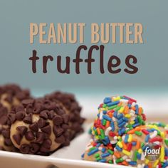 Sweet and simple to make, these truffles will brighten up any party table. Plus, your guests will have plenty of options from sprinkled to chocolate-chip-coated!