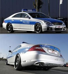 German Police usual Mercedes cars do not look too shabby either: