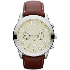Shop for Michael Kors Men's Chronograph Mercer Mahogany Leather Strap Watch. Get free delivery On EVERYTHING* Overstock - Your Online Watches Store! Michael Kors Outlet, Michael Kors Mercer, Michael Kors Men, Michael Khors, Gents Watches, Watches For Men, Women's Watches, Wrist Watches, Mercer Watch