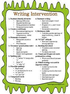 Writing Intervention Teacherspayteachers.com