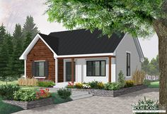 FRIENDLY FRONT PORCH : EXTERIOR MAKEOVER FOR THIS TOP 1 BUNGALOW SELLER  Small and affordable bungalow, 2 bedrooms, cathedral ceiling, closed foyer (# 4151)  http://www.drummondhouseplans.com/house-plan-detail/info/fletcher-country-1002107.html