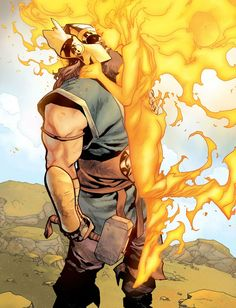 War Thor and Phoenix Force Odin Comics, Arte Dc Comics, Marvel Comics Art, Avengers Comics, Marvel Dc, Marvel Heroes, Comic Books Art, Comic Art, Phoenix Force
