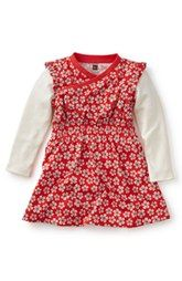 Tea Collection 'Sora' Flower Print Knit Dress (Baby Girls)
