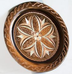 Etched vintage copper plate GEOMETRIC TURKISH by cabinetocurios, $16.00