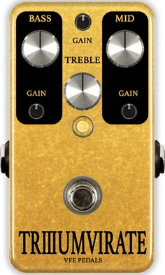 VFE Pedals | Boutique & Custom Effects | Triumvirate distortion pedal
