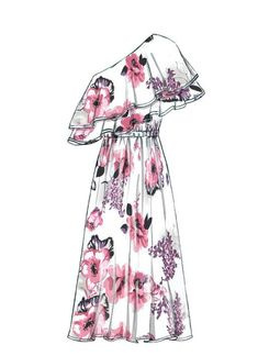 Fashion Design Drawing McCall Misses' Top, Dresses and Belt Dress Design Drawing, Dress Design Sketches, Fashion Design Drawings, Dress Drawing, Fashion Sketches, Fashion Drawing Dresses, Fashion Dresses, Drawing Fashion, Dresses Art