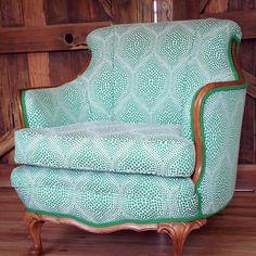 Redesigned vintage chair from Jamie Lauren Designs. Beautiful.