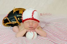 Need this for my nephew :-)  Baseball Beanie by BriarRoseCraftyThing on Etsy, $27.00