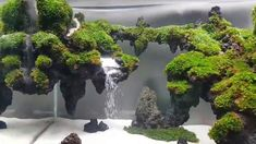 My Underwater waterfall-sand waterfall in aquarium by an binh lee - aquascaping Planted Aquarium, Aquarium Diy, Aquarium Nano, Aquarium Garden, Aquarium Terrarium, Aquarium Aquascape, Aquarium Landscape, Aquarium Setup, Tropical Fish