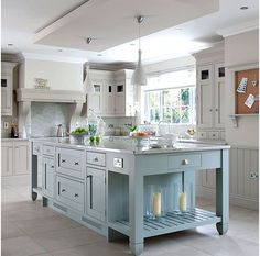Painted wood kitchen