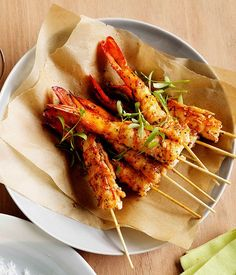 Pan-fried prawns with Creole spice recipe :: Gourmet Traveller Prawn Recipes, Lobster Recipes, Shellfish Recipes, Seafood Recipes, Cooking Recipes, Small Food Processor, Food Processor Recipes, Prawn Skewers, Creole Spice