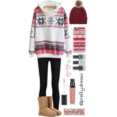 """""""idk what I did here #Christmas #outfit #outfits #christmasoutfit #winter #cold #snow #christmastree #red #ootd #outfitideas #outfitidea #maroon #uggs…"""""""