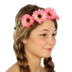 wholesale N34 Daisy headband Pink Wholesale Hair Accessories, Wholesale Scarves, Buying Wholesale, Daisy Headband, Yoga Wear, Lavender, Leggings, Wreaths, Pink