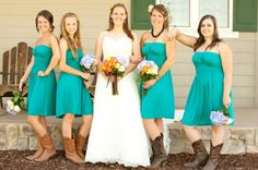 Country chic wedding   Love this teal color! Aren't theses the colors you wanted?