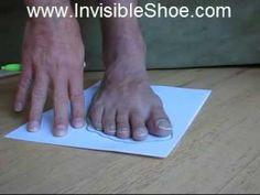 Make huaraches (Tarahumara running sandals) 1/3 - making pattern