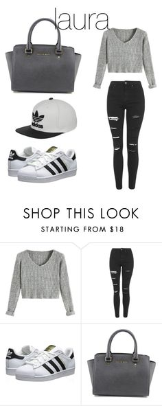 """""""laura"""" by liederveen on Polyvore featuring Topshop, adidas Originals, MICHAEL Michael Kors and adidas"""