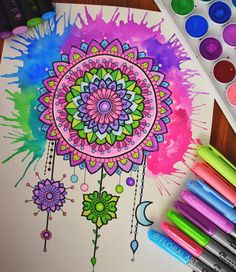 """5,171 Likes, 39 Comments - Simran Savadia • Australia (@floral.art) on Instagram: """"Hey guys! A closer look at my Mandala dream catcher, you can also have a look at my mini video I…"""""""