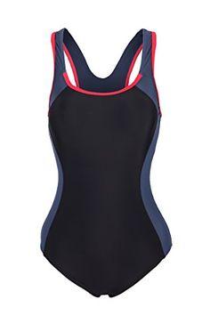 ReliBeauty Women's Backless Splice One Piece Swimsuit