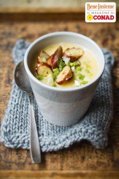 L'inverno freddo fuori, un cuore caldo dentro: per la #ricetta della #vellutata di patate e brezel di Conad Bene Insieme, clicca sulla foto!