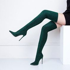Sestito 2018 Woman Bling Glitter Slip-on Slim Sock Boots Ladies High Heels Point. - Sestito 2018 Woman Bling Glitter Slip-on Slim Sock Boots Ladies High Heels Pointed Toe Microfiber Elasticity Over-the-knee Boots - Stilettos, Stiletto Heels, Pointed Heels, Glitter Heels, Thigh High Boots Heels, Heeled Boots, Boot Heels, Ankle Boots, Shoes Heels
