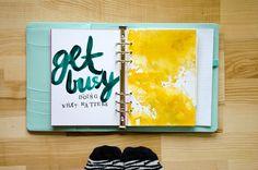 Nina is a paper nerd. | Get busy doing what matters | Get Messy Art Journal | http://www.ninachristensen.dk