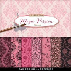 FREE New Freebies Kit of Backgrounds - Magie Passion:Far Far Hill - Free database of digital illustrations and papers