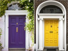 Bright and bold front doors add instant curb appeal