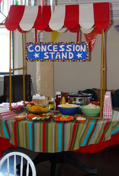 Circus Party -Concession Stand, food Circus Party #circus #party carnival birthday boys girls kids cake