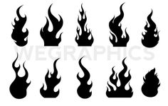 Different fire vector illustration set 01 vector other for Fuego falso para chimenea