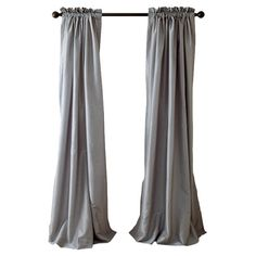 Refresh your master suite or guest room with this lovely faux silk curtain, showcasing a rod pocket opening and silver hue.    Pro...