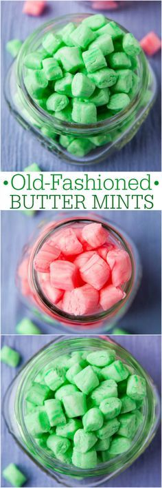 Old-Fashioned Butter Mints - Easy, no-bake recipe for creamy, smooth mints like your grandma kept in her candy jar or that you'd get in a restaurant! (Old Fashioned Sweet Recipes) Just Desserts, Delicious Desserts, Dessert Recipes, Yummy Food, Fudge Recipes, Dessert Ideas, Party Recipes, Dinner Recipes, Mint Recipes