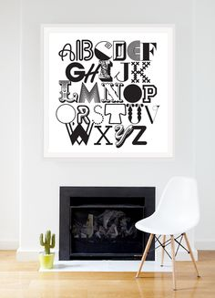 ABC Type Print from $110  visit mcollection.com.au  in Affordable Art