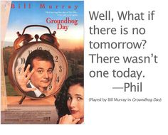 "Groundhog Day Movie Quotes Endearing Bill Murray In ""groundhog Day.""  Movie Stuff  Pinterest  Bill"