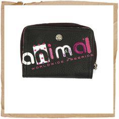 Animal Appli Leather Wallet Black Animal Appli Leather Wallet Notes Section Credit Card Section Zipped Coin Pocket Animal Logo Dimensions: 11x8cm Animal Code: DWP026 002 http://www.comparestoreprices.co.uk/sports-goods/animal-appli-leather-wallet-black.asp