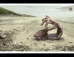 """""""Glove"""" for  Surfrider Foundation France By Y&R Paris The message: """"Unfortunately, rubbish doesn't pick itself up.""""   - PopularMechanics.com"""