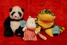 Webkinz Panda Bear & Bull Frog Unused Codes Moomin Mamma Japan Stuffed Plush Lot #WebkinzMoomin