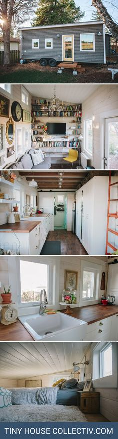 A Scandinavian-style tiny house with 300 sq ft of space