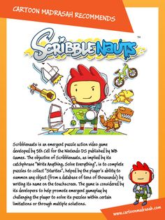 Cartoon Madrasah Recommends 'Scribblenauts'.