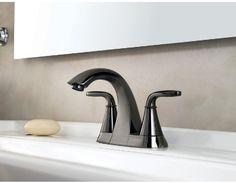 Black Chrome bathroom faucet. Pretty sleek.