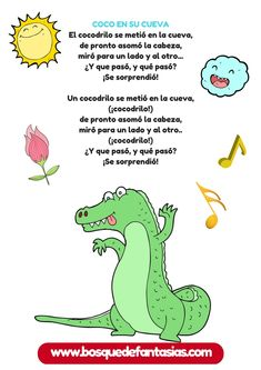 CANCIONERO INFANTIL: Fichas con canciones de animales Spanish Lessons For Kids, Learning Spanish, Kids Learning, Spanish Teacher, Spanish Classroom, Montessori, Poetry For Kids, Spanish Songs, Phonological Awareness