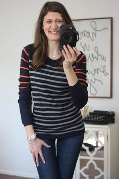 I like the lightweight look of this sweater, perfect for layering on colder days while still lightweight enough to wear now. Fall tends to be short-lived in Wyoming and it will be snowing soon enough. Lizzy Colorblock Striped Sweater from 41Hawthorn - Stitch Fix
