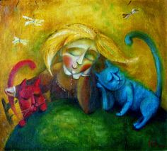 France Drawing, France Photography, Jeff Koons, Abstract Animals, Cat Art, Street Art, Original Art, Kitty, Cats