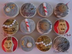 Sweeney Todd themed cupcakes