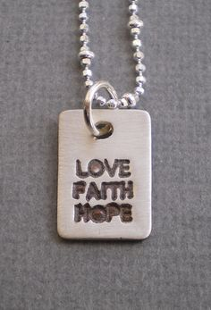 3 Little words that mean SO much. Another in my new line of charms. $ 30
