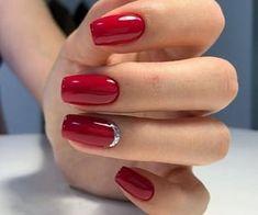 Red Nail Art, Red Acrylic Nails, Red Nails, Red Art, Pastel Nails, Yellow Nails, Black Nails, Natural Gel Nails, Red Nail Designs