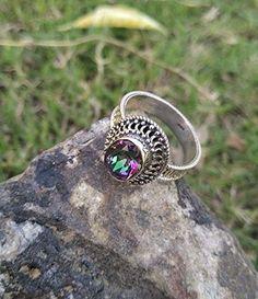 Royal Jewelry, Charm Jewelry, Amethyst Gemstone, Gemstone Jewelry, Hippie Rings, Mystic Topaz, Statement Rings, Ring Designs, Wedding Jewelry