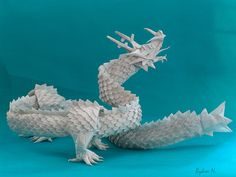 Ryu-Zin by Satoshi Kamiya Paper Models, Origami Dragon, Art Style, Origami Paper Art, Art, Pictures, Traditional Japanese Art, Tape Art