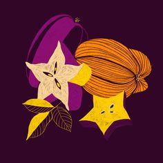 Marisol Ortega — Fruit & Line Series Fruit Illustration, Food Illustrations, Botanical Illustration, Invisible Creature, Hallmark Cards, Arte Pop, Cool Posters, Modern Art, Original Artwork