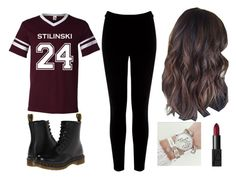 """""""Stilinski"""" by xaalenaax ❤ liked on Polyvore featuring Warehouse, Dr. Martens and NARS Cosmetics"""